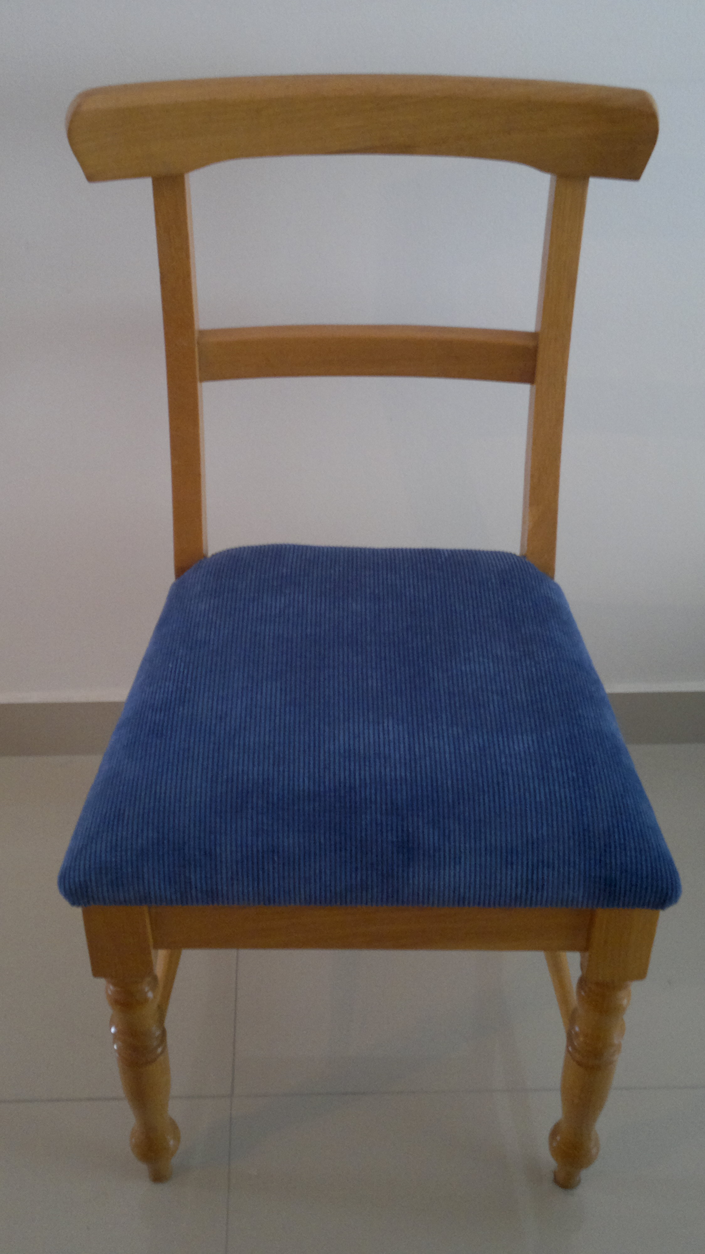 Fabric Dining Chair Blue Upholstery Cape Town