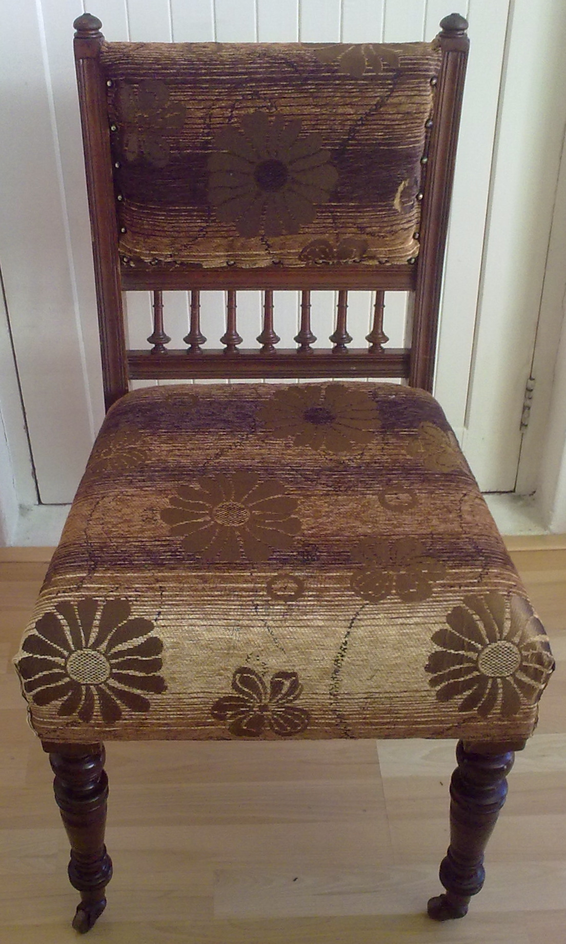 Fabric dining chair brown floral upholstery cape town for Upholstery fabric for dining room chairs