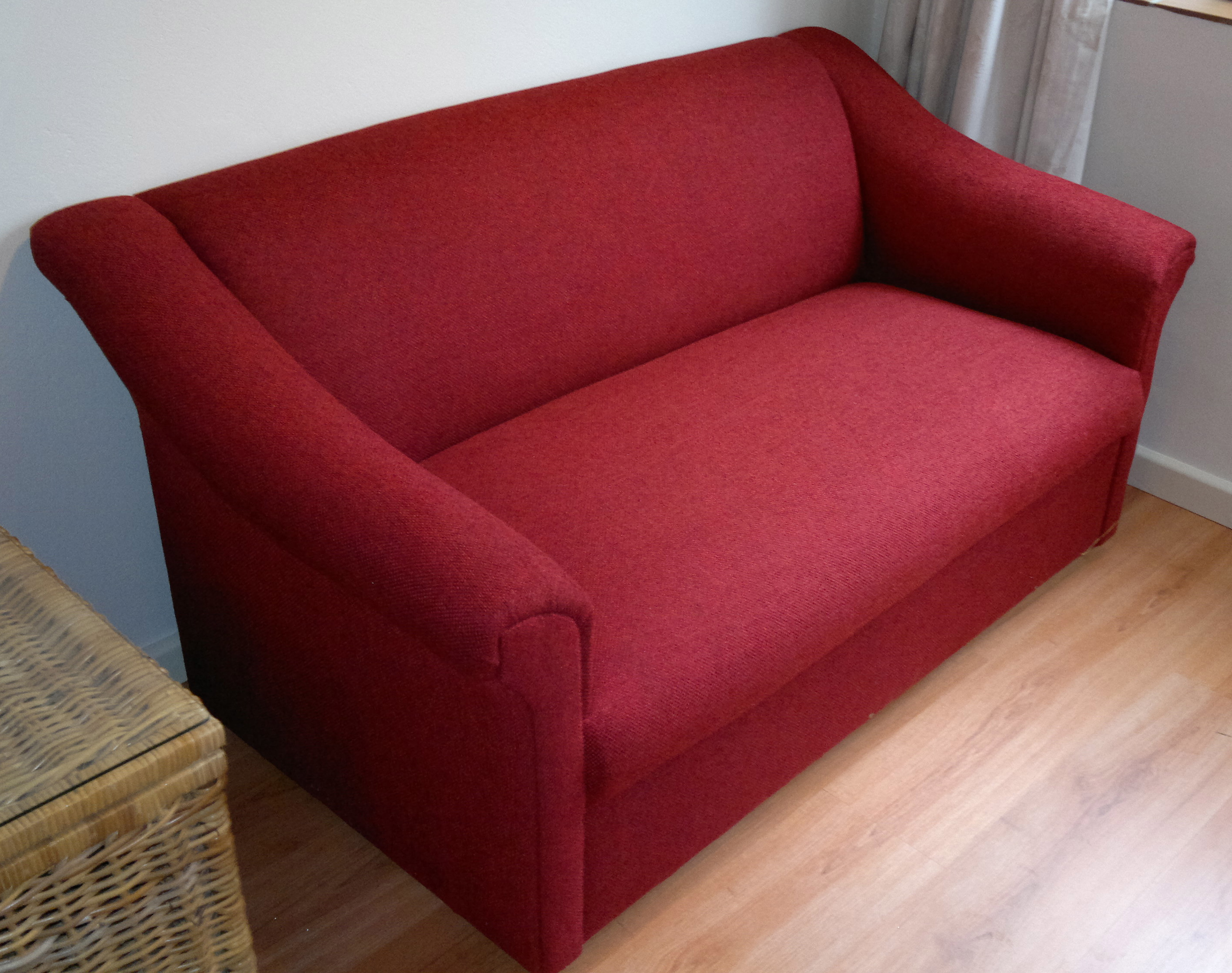Fabric Sofa Small Red Upholstery Cape Town