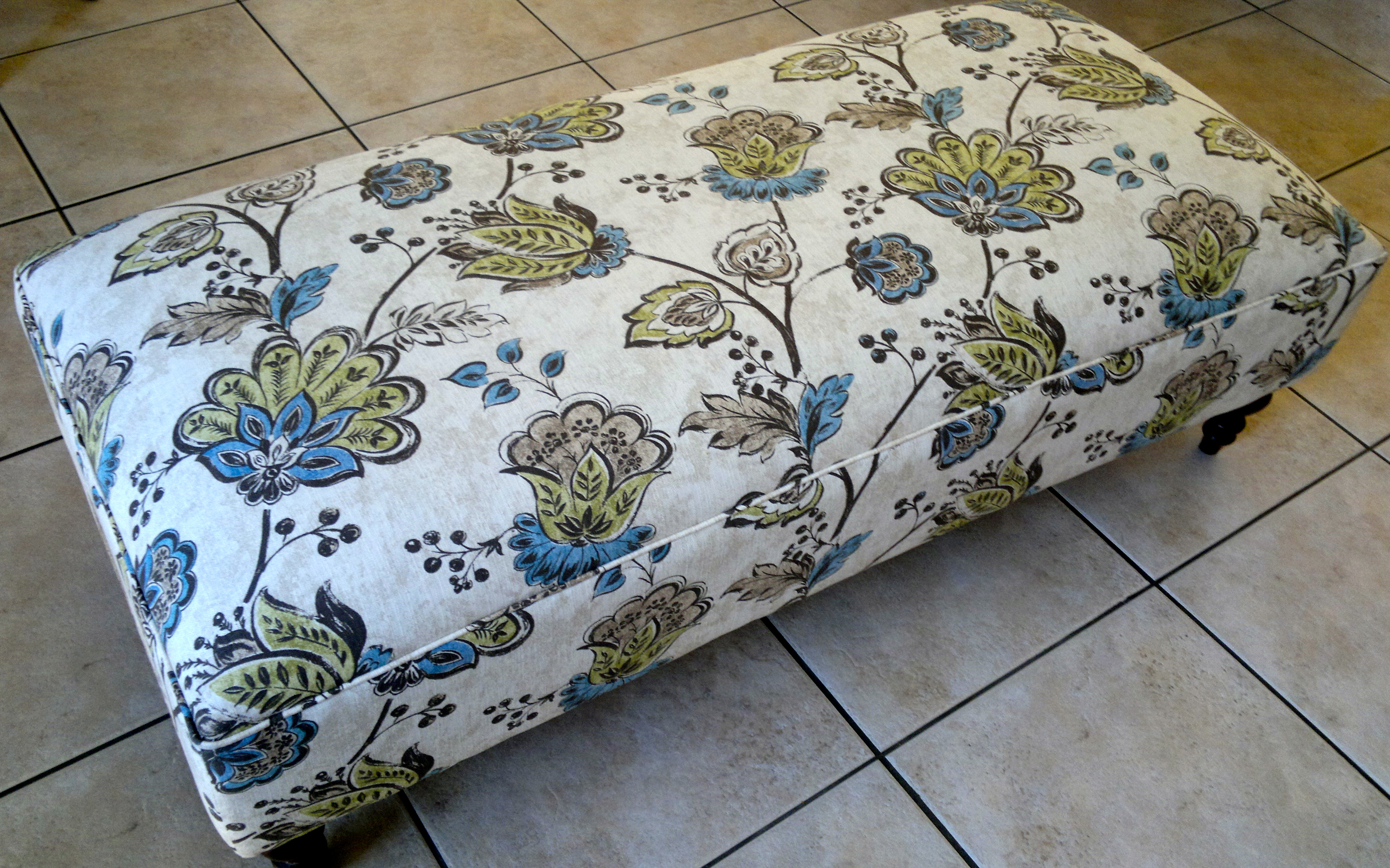 fabric ottoman floral Upholstery Cape Town