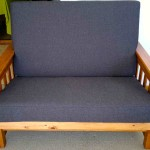 fabric sleeper couch black