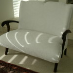 Reupholstered Lovers Seat