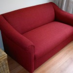 Fabric sofa small red