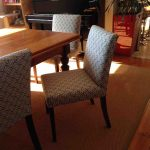 Fabric wingback chairs Blue Stripes
