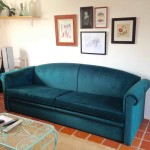 Reupholstering a Couch with Velvet