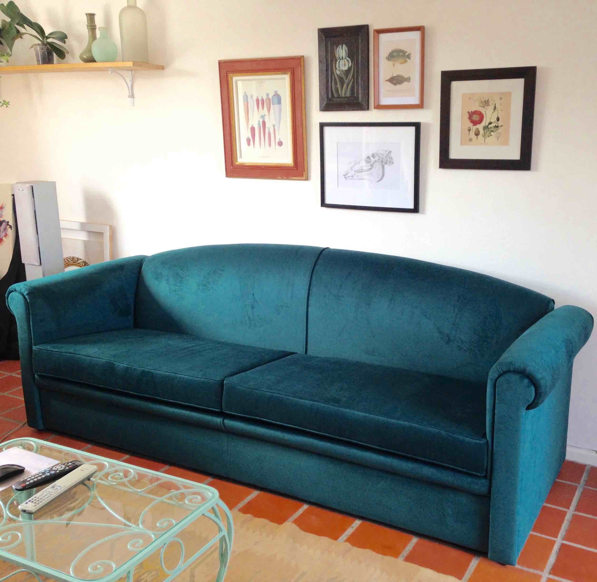 Reupholstering a Couch with Velvet Upholstery Cape Town
